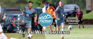 <div>Cuerten, Arzberger Chosen To Men's All-PacWest Team</div>